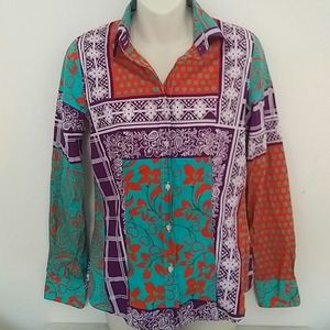 ETRO - summer stretch cotton blouse